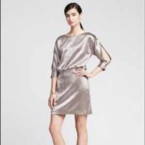 NWT Gold shimmery Banana Republic Monogram dress